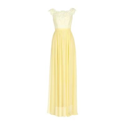 BY MALINA ロングワンピース&ドレス イエロー XS シルク 100% / ポリエステル / コットン ロングワンピース&ドレス
