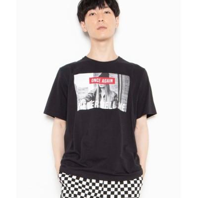 WEGO / WEGO/モノトーンガールフォトボックスTシャツ MEN トップス > Tシャツ/カットソー