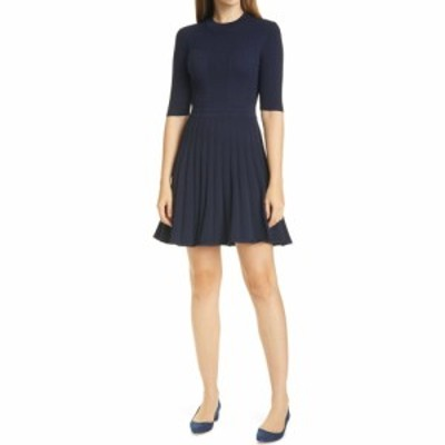 テッドベーカー TED BAKER LONDON レディース ワンピース ワンピース・ドレス Olivinn Mix Stitch Fit and Flare Sweater Dress Navy