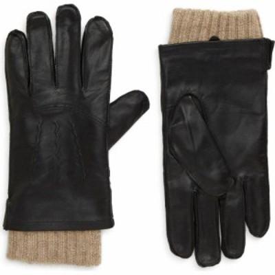 ノードストローム NORDSTROM メンズ 手袋・グローブ Leather Cashmere Lined Gloves Black