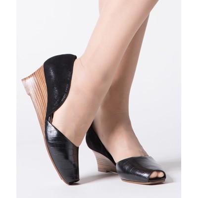 ANDEX shoes product / coca/コカ オープントゥ セパレート ウェッジヒール パンプス 119005 WOMEN シューズ > パンプス