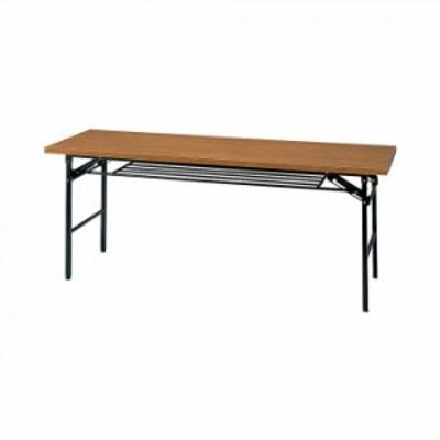 オフィス家具 ミーティングテーブル ハイタイプ 180×60×70cm チーク KM1860T-T 家具 オフィス家具