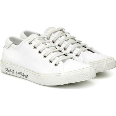 イヴ サンローラン Saint Laurent レディース スニーカー シューズ・靴 Malibu canvas sneakers Blanc Optique