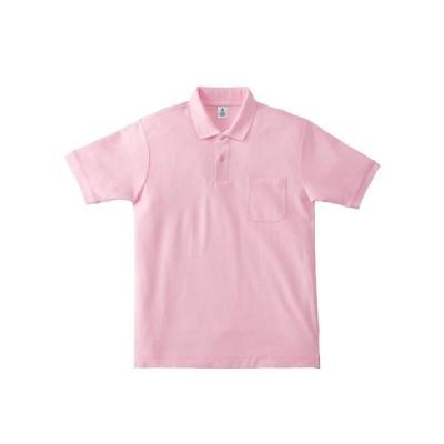 ボンマックス ポケットツキ_CVCカノコドライポロシャツ (MS3114) [色 : ライトピンク] [サイズ : GS]