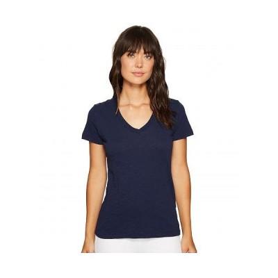 Mod-o-doc モッドオードック レディース 女性用 ファッション Tシャツ Slub Jersey S/S V-Neck Tee - True Navy