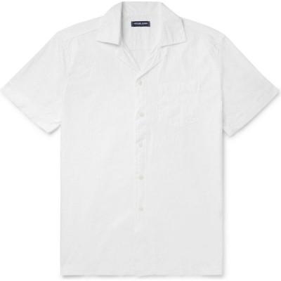 フレスコボールカリオカ FRESCOBOL CARIOCA メンズ シャツ トップス Solid Color Shirt White