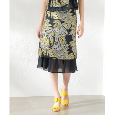 【ラブレス】 WOMEN Creative line リーフジャカードスカート レディース ネイビー 34 LOVELESS