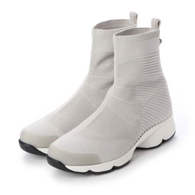 フィットフィット fitfit ウェービーソールニットブーツ (オフホワイト)