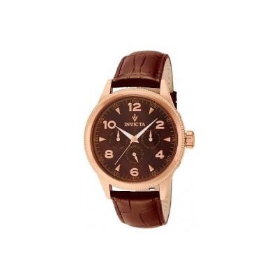 腕時計 インヴィクタ メンズ Invicta12203 ビンテージ スイス クロノグラフ ブラウン ダイヤル ブラウン レザー 腕時計
