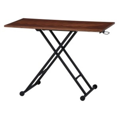 【送料無料】不二貿易 昇降テーブル シルビア ブラウン 19242