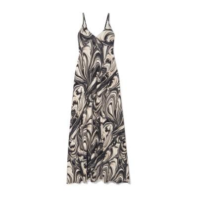 NORMA KAMALI ロングワンピース&ドレス ブラック XXS ポリエステル 95% / ポリウレタン 5% ロングワンピース&ドレス