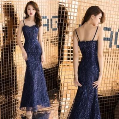 大きいサイズ ロングドレス マーメイドライン パーティードレス 結婚式 マキシ丈 ワンピース ドレス ノースリーブ タイト