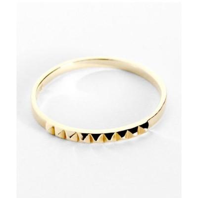 指輪 スタッズピンキーリング