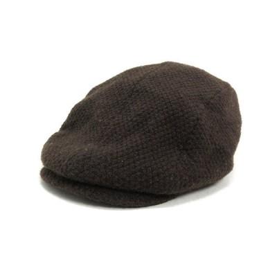 k■ラコステ/LACOSTE ローゲージウールハンチング 帽子 CAP【58cm】茶MENS/107【中古】