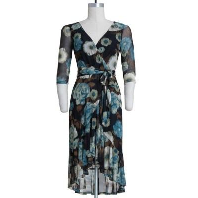 コネクテッド ワンピース トップス レディース Plus Size Floral-Print High Low Dress Mallard