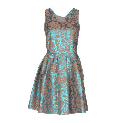 ジャッカ JUCCA ミニワンピース&ドレス ターコイズブルー 44 コットン 50% / ポリエステル 50% ミニワンピース&ドレス