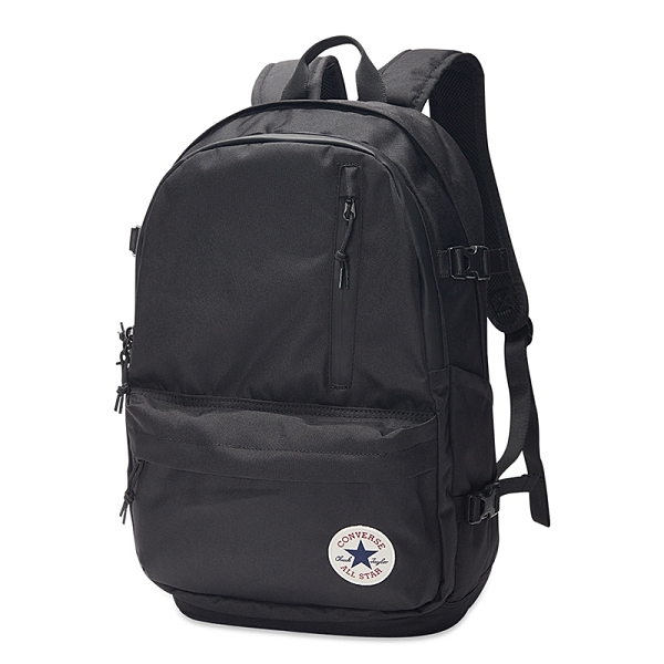 Converse Straight Edge Backpack 黑 運動 休閒 後背包 10020524-A01