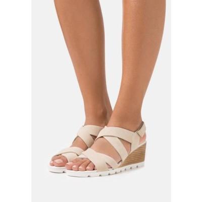 アンナフィールド レディース 靴 シューズ LEATHER - Wedge sandals - beige