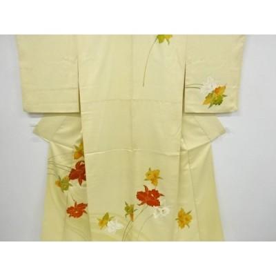 アンティーク 流水に蘭模様刺繍着物
