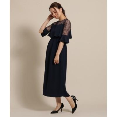 Dorry Doll ヨーク袖レースふらしロングドレス