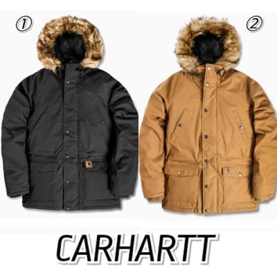 CARHARTT カーハート TRAPPER 中綿ジャケット 黒 茶色 メンズ