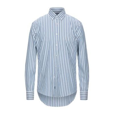 ランバン LANVIN シャツ ブルー 40 コットン 100% シャツ