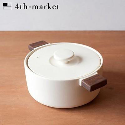 4th-market ペラ コッタ 白 pera cotta ホワイト (L-1) IH不可 フォースマーケット 萬古焼 和 おうち時間 ていねいなくらし