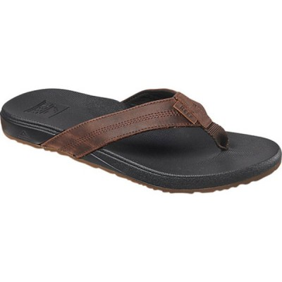 リーフ サンダル シューズ メンズ Cushion Phantom LE Flip Flop (Men's) Black/Brown Full Grain Leather
