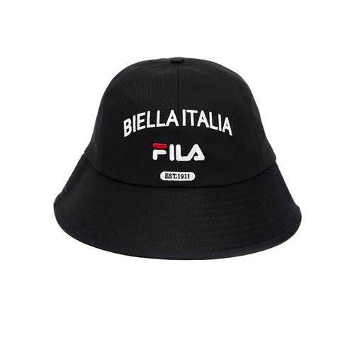 FILA 復古圓頂漁夫帽/筒帽-黑 HTV-1208-BK