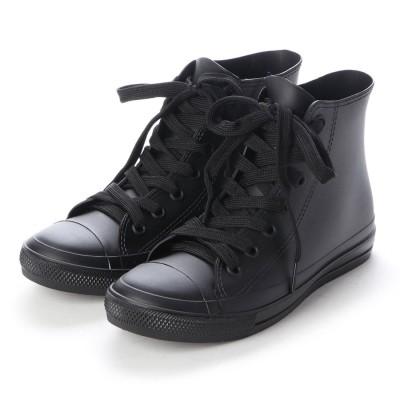 ブラッチャーノ Bracciano レインスニーカー レディース ハイカットシューズ 防水雨靴(BLACK)