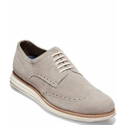 コールハーン メンズ ドレスシューズ シューズ Men's ORIGINALGRAND Wingtip Leather Oxfords Gray Pinstripe