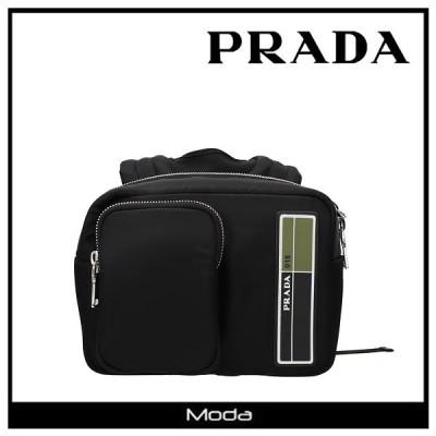 プラダ バックパック メンズ リュック ブランド 黒 ブラック PRADA ロゴ