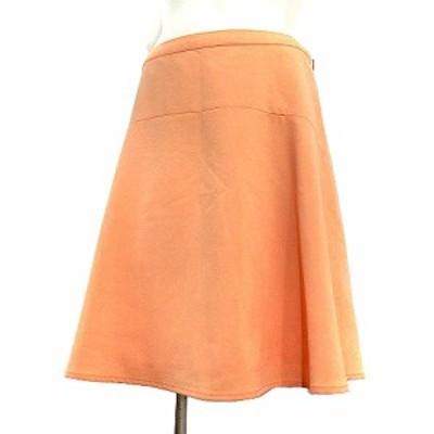 【中古】ロペピクニック ROPE Picnic スカート ひざ丈 フレア 無地 オレンジ 38 ボトムス レディース