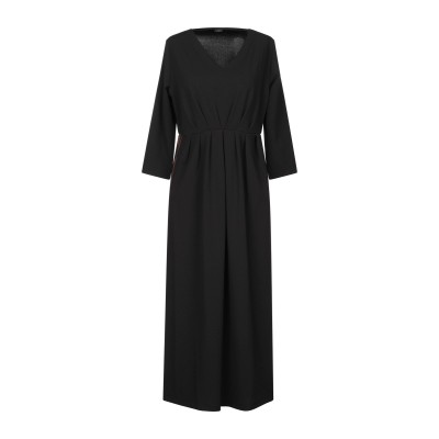 アルファスタジオ ALPHA STUDIO 7分丈ワンピース・ドレス ブラック 44 ポリエステル 95% / ポリウレタン 5% 7分丈ワンピース