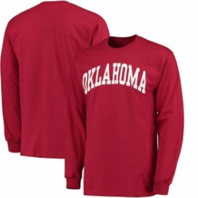 Fanatics Branded ファナティクス ブランド スポーツ用品  Oklahoma Sooners Crimson Basic Arch Long Sleeve T-Shirt