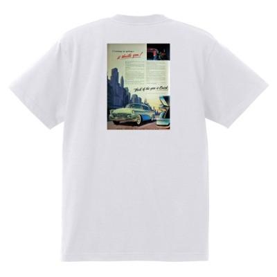 アドバタイジング ビュイック 285 白 Tシャツ 黒地へ変更可能  1955 スーパー リビエラ センチュリー ロードマスター オールディーズ