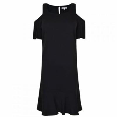 パトリツィア ペペ PATRIZIA PEPE レディース ワンピース ワンピース・ドレス Mini Ruffle Hem Dress Black