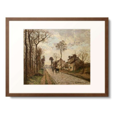 カミーユ・ピサロ Camille Pissarro  「The Road To Saint-Cyr At Louveciennes. 1870」