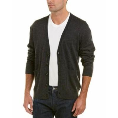 ファッション トップス Qi Merino Wool V-Neck Cardigan Xl Grey