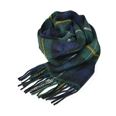 英国王室ご愛用 Lochcarron of scotland ロキャロン ラムズウール100% タータンチェックマフラー (キャンベルオブア