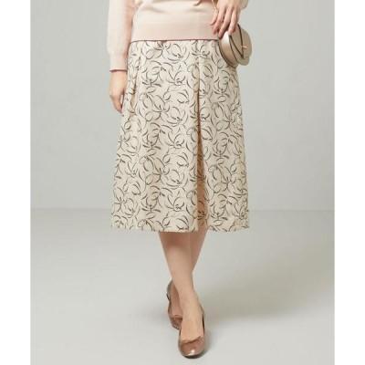 スカート <closet story>□ブラシLINE フレア スカート -手洗い可能-