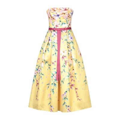 マルケッサ・ノッテ MARCHESA NOTTE 7分丈ワンピース・ドレス イエロー 6 ポリエステル 100% 7分丈ワンピース・ドレス