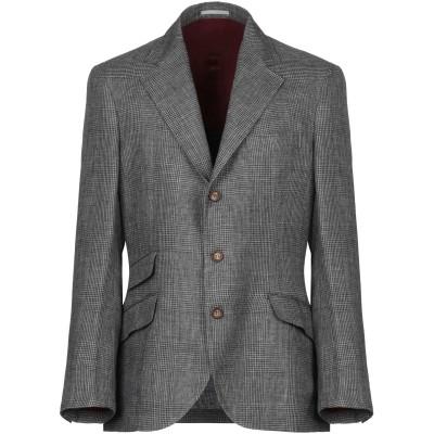 ブルネロ クチネリ BRUNELLO CUCINELLI テーラードジャケット グレー 48 リネン 100% テーラードジャケット