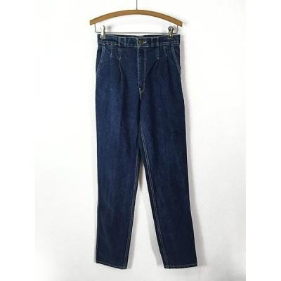 「Deadstock」 80s レディース 古着 BLUE BAY  濃紺 デニム パンツ ジーンズ ストレート  W28 L34 古着