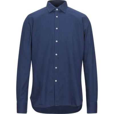 ベヴィラクア BEVILACQUA メンズ シャツ トップス solid color shirt Blue