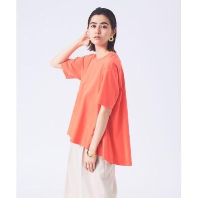 qualite/カリテ 【接触冷感】クールスムースフレアーTシャツ オレンジ F