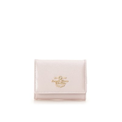 【サマンサタバサプチチョイス】 エナメルロゴ 折財布 レディース ピンク FREE Samantha Thavasa Petit Choice