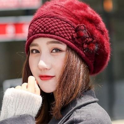 レディース秋冬用ニット帽帽子ニット帽大きいサイズニットキャップキャスケットワッチキャップワークキャップ防寒裏起毛