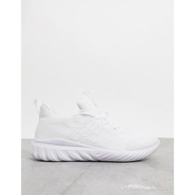 ルールロンドン メンズ スニーカー シューズ Rule London Bruce chunky sneaker in white