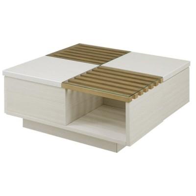 送料無料 幅80テーブル センターテーブル リビング 収納スペース カフェテーブル 北欧 オシャレ 格子デザイン 引き出し